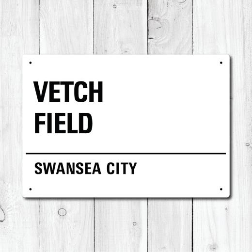 WallChimp Vetch Field, Swansea City Metal Sign
