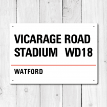 Vicarage Road Stadium, Watford Metal Sign