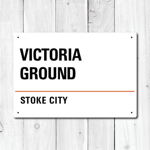 WallChimp Victoria Ground, Stoke City Metal Sign