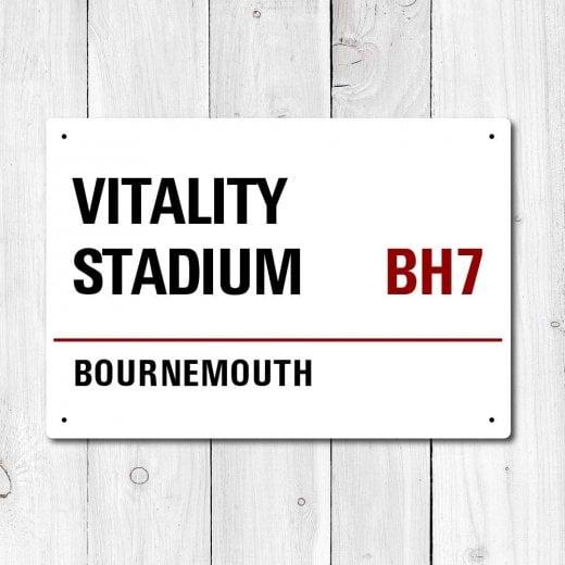 WallChimp Vitality Stadium, Bournemouth Metal Sign