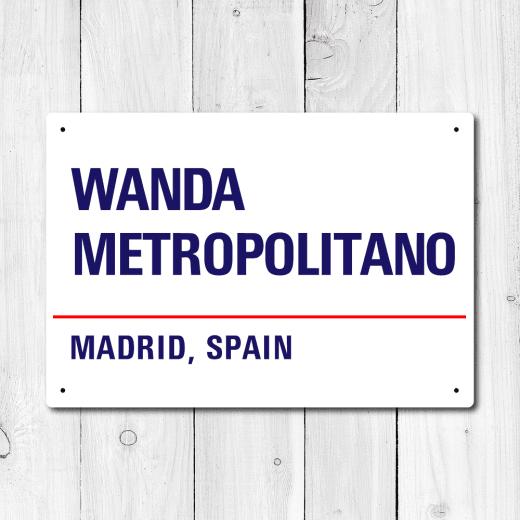 WallChimp Wanda Metropolitano, Madrid, Spain  Metal Sign