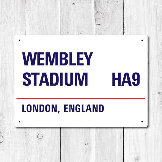WallChimp Wembley Stadium, London Metal Sign