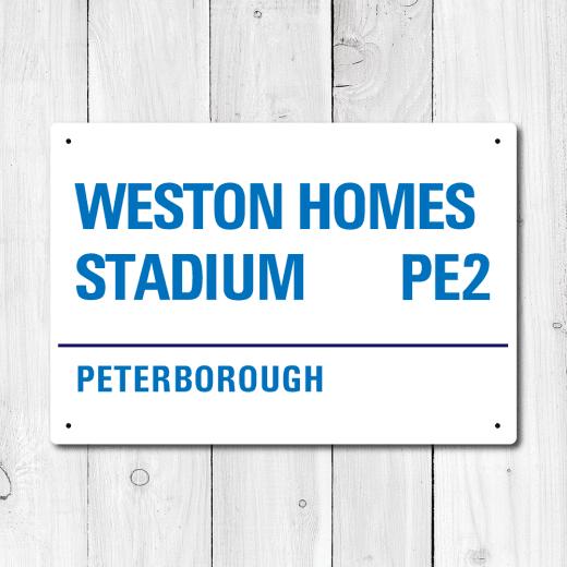 WallChimp Weston Homes Stadium, Peterborough Metal Sign