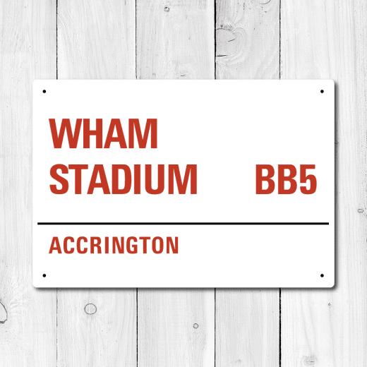 WallChimp Wham Stadium, Accrington Metal Sign