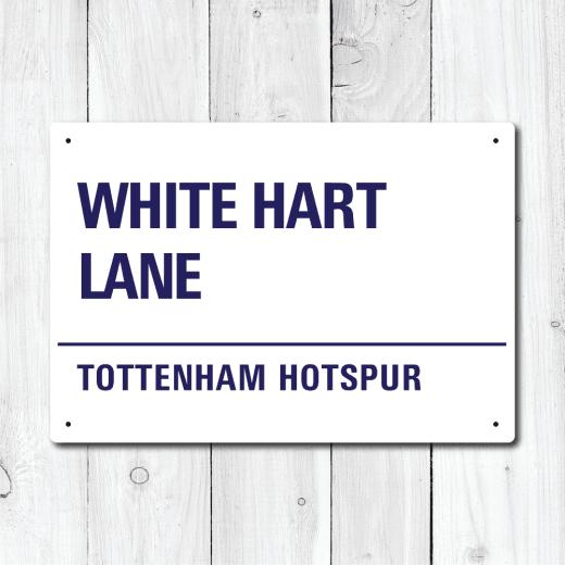 WallChimp White Hart Lane, Tottenham Hotspur Metal Sign
