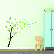 Wind Blowing Trees Wall Sticker