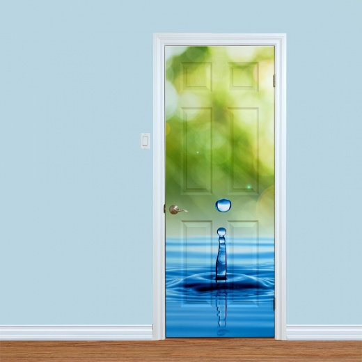 Water Droplet Printed Door Design
