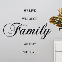 We Love Family Wall Sticker Quote