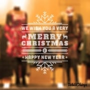 We Wish You A Very Merry Christmas Wall & Window Sticker