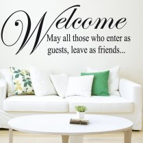 Welcome Friends Wall Sticker Quote