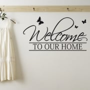 Welcome To Our Home Wall Sticker Quote