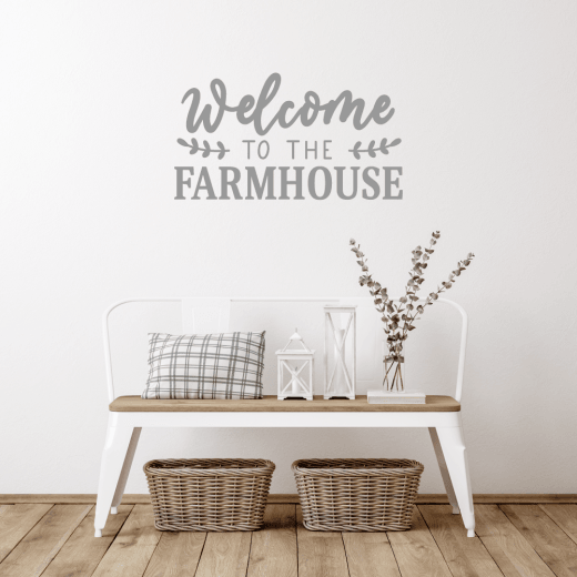 Welcome To The Farmhouse Wall Sticker