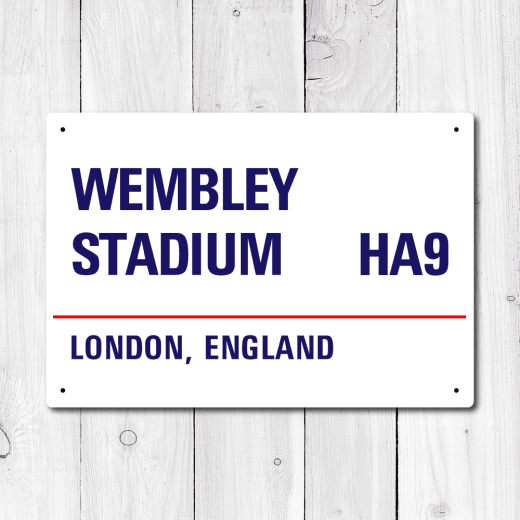 Wembley Stadium, London Metal Sign