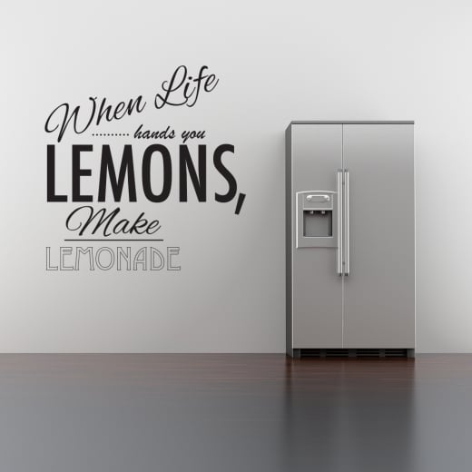 When Life Hands You Lemons Wall Sticker Quote