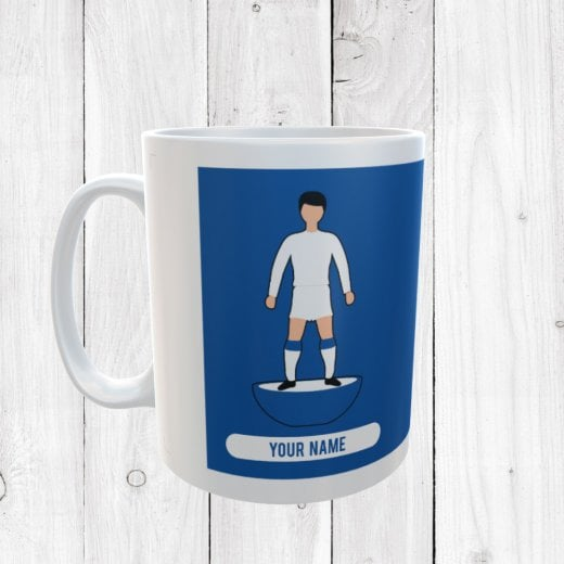 White & Blue Football Mug