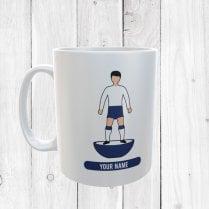 White & Blue Football Mug