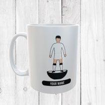 White Football Mug