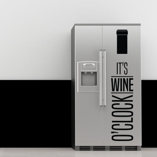 Wine O'Clock Wall Sticker