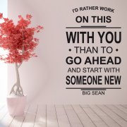 With You Big Sean Wall Sticker Quote