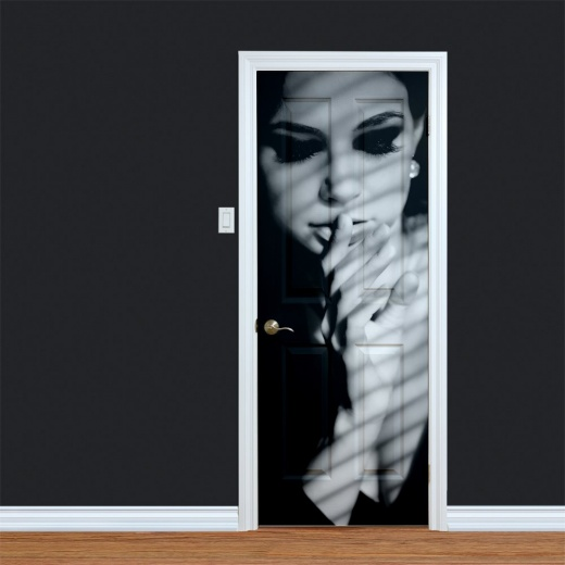 Woman Fashion Pose Printed Door Art
