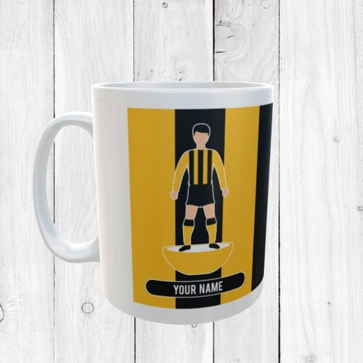 Yellow & Black Football Mug
