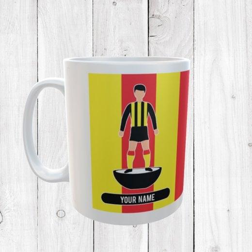 Yellow & Red Football Mug