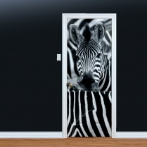 Zebra Stripes Printed Door Art